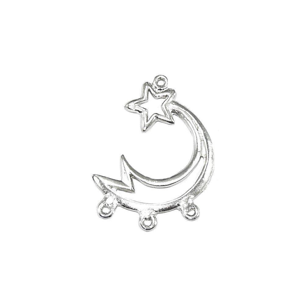 Alongador Estrela Cadente de Metal 3 Saídas - 29mm  - Nathalia Bijoux®