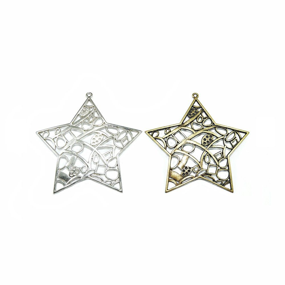 Pingente Estrela de Metal - 80mm  - Nathalia Bijoux®