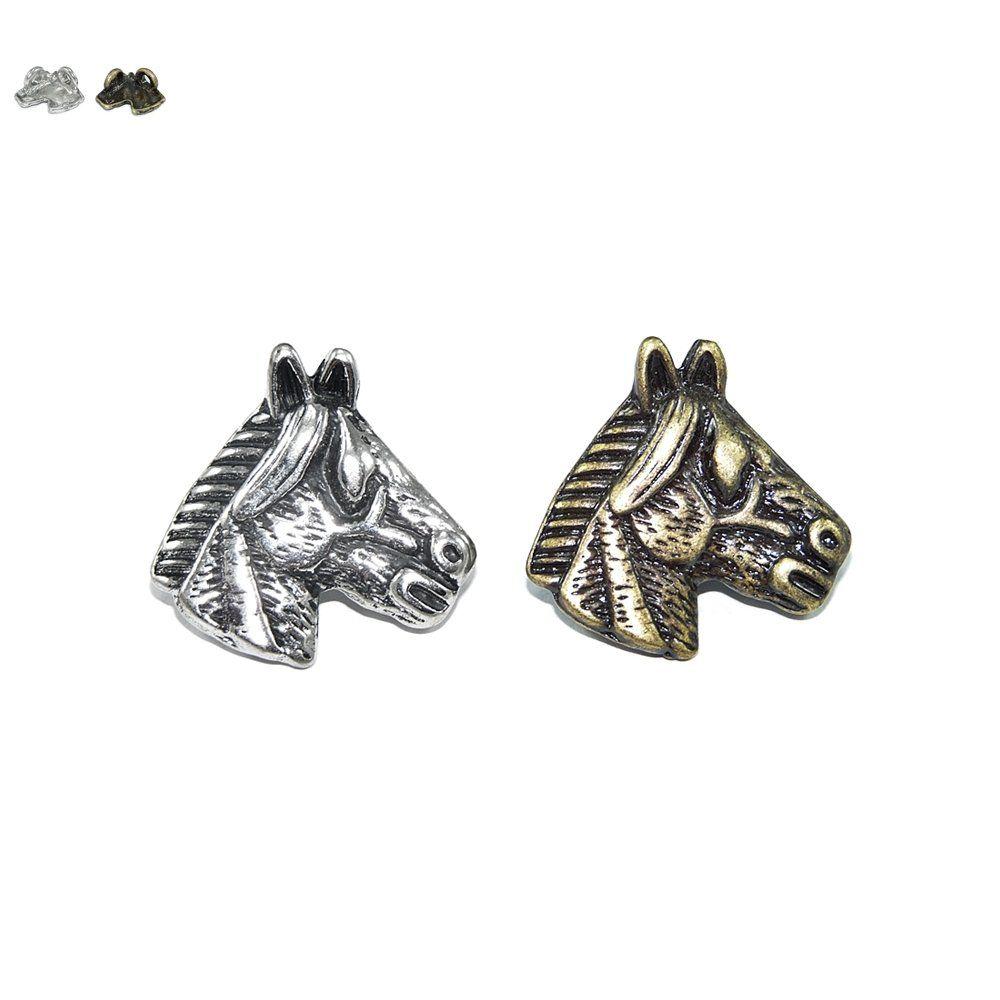 Pingente Cavalinho de Metal 2 Saídas - 28mm  - Nathalia Bijoux®