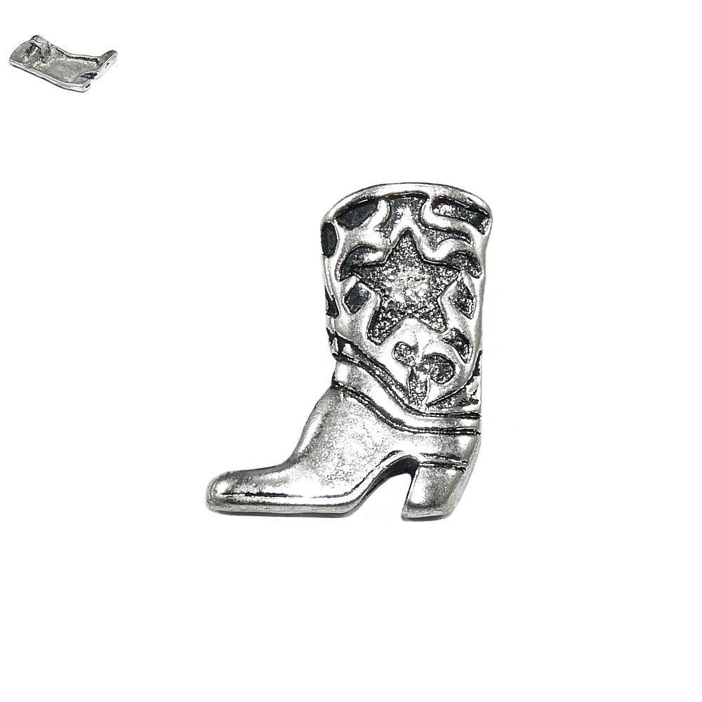 Pingente Botinha de Caubói de Metal - 23mm  - Nathalia Bijoux®