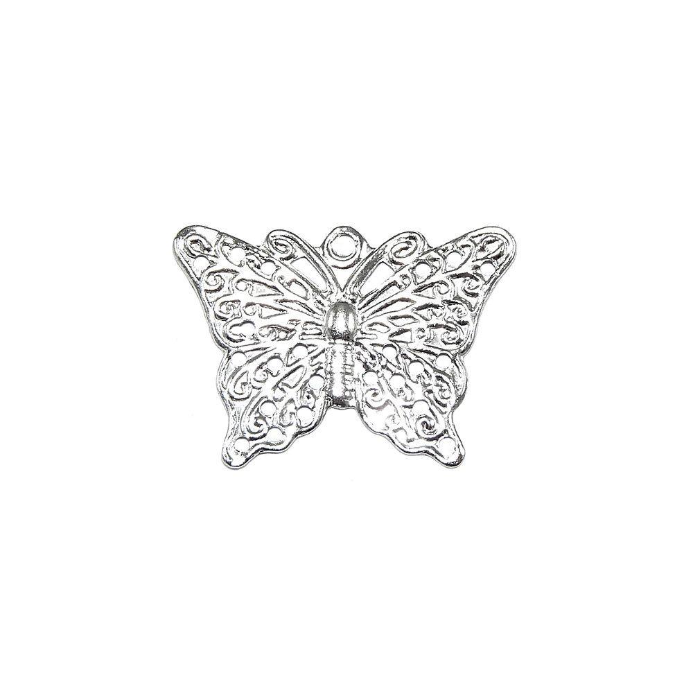 Pingente Borboleta de Metal - 17mm  - Nathalia Bijoux®