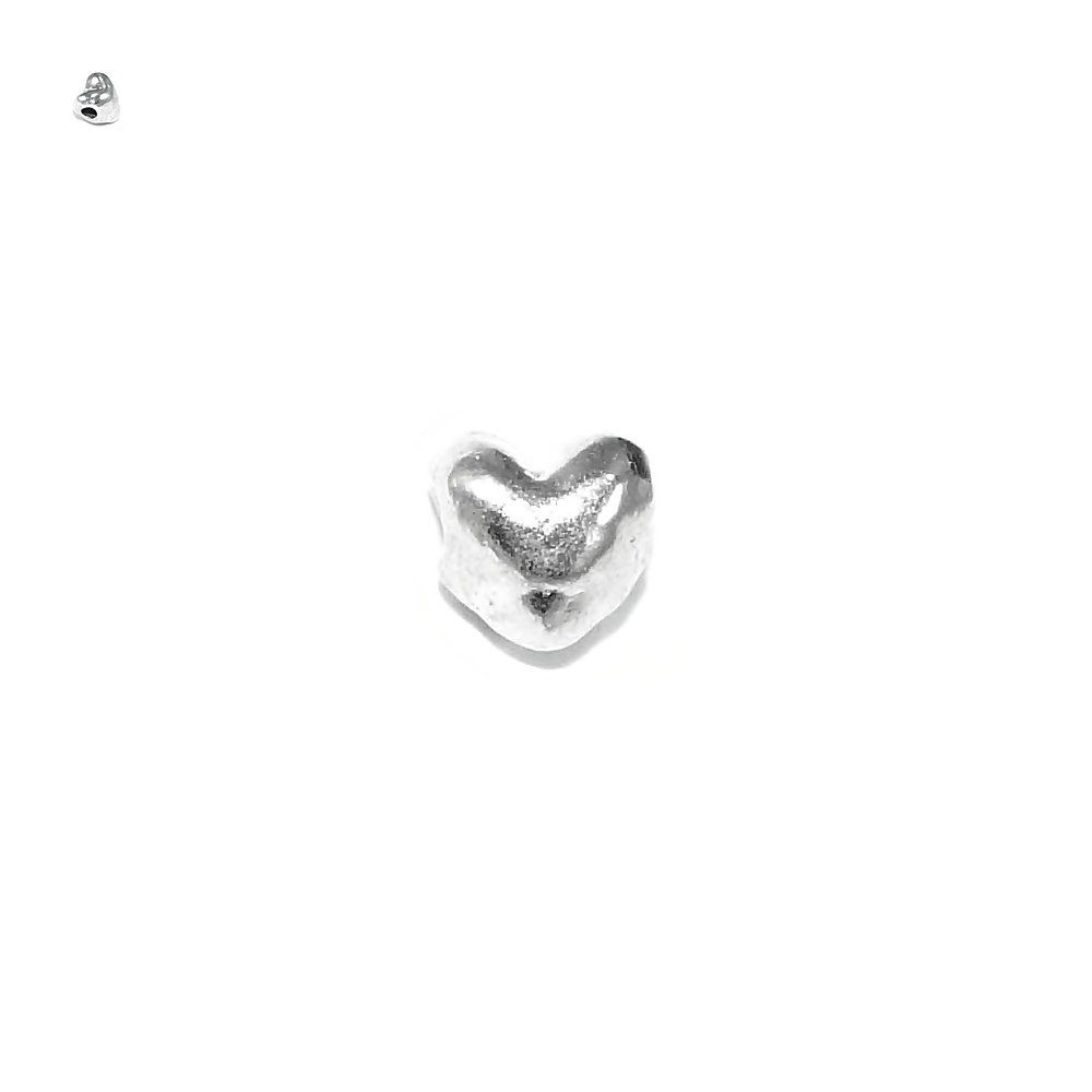 Entremeio Coração de Metal - 4mm  - Nathalia Bijoux®