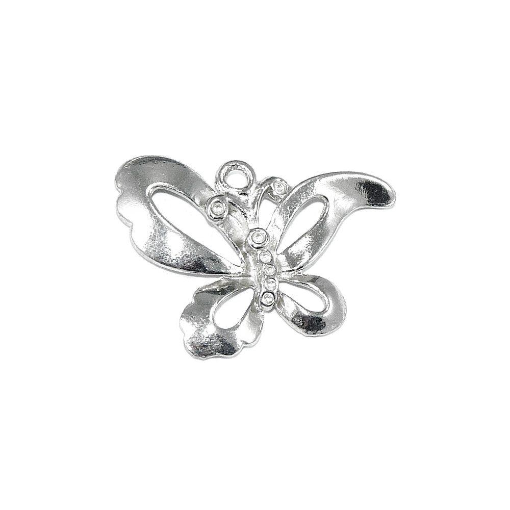 Pingente Borboleta de Metal - 24mm  - Nathalia Bijoux®
