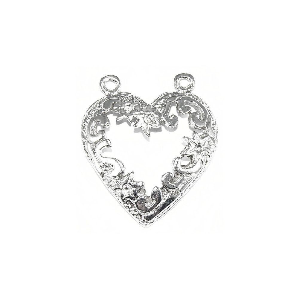 Pingente Coração de Metal - 29mm  - Nathalia Bijoux®