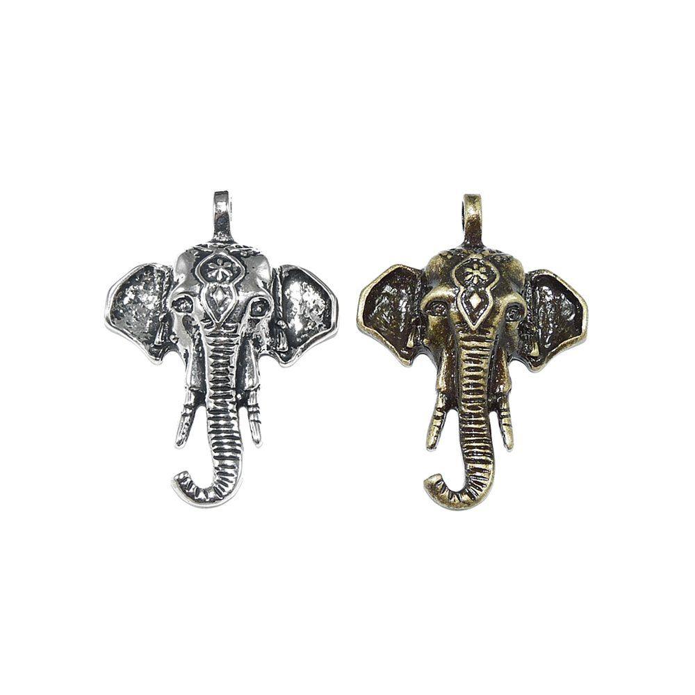Pingente Elefante de Metal - 46mm  - Nathalia Bijoux®