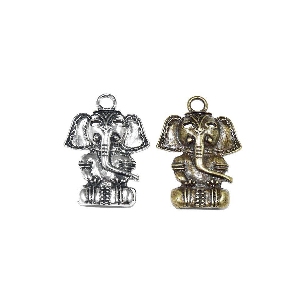 Pingente Elefante de Metal - 55mm  - Nathalia Bijoux®