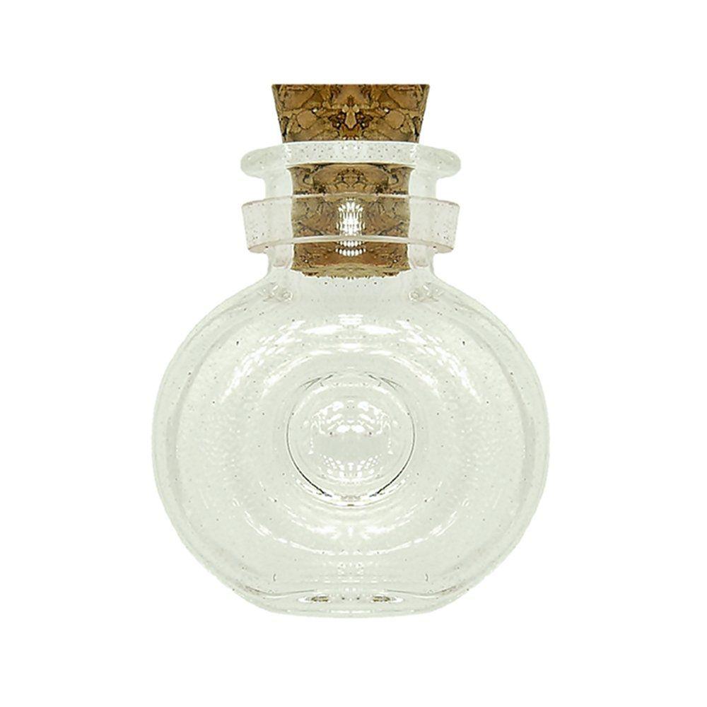 Garrafinha de Vidro com Rolha - 2.4cm - 10pçs  - Nathalia Bijoux®