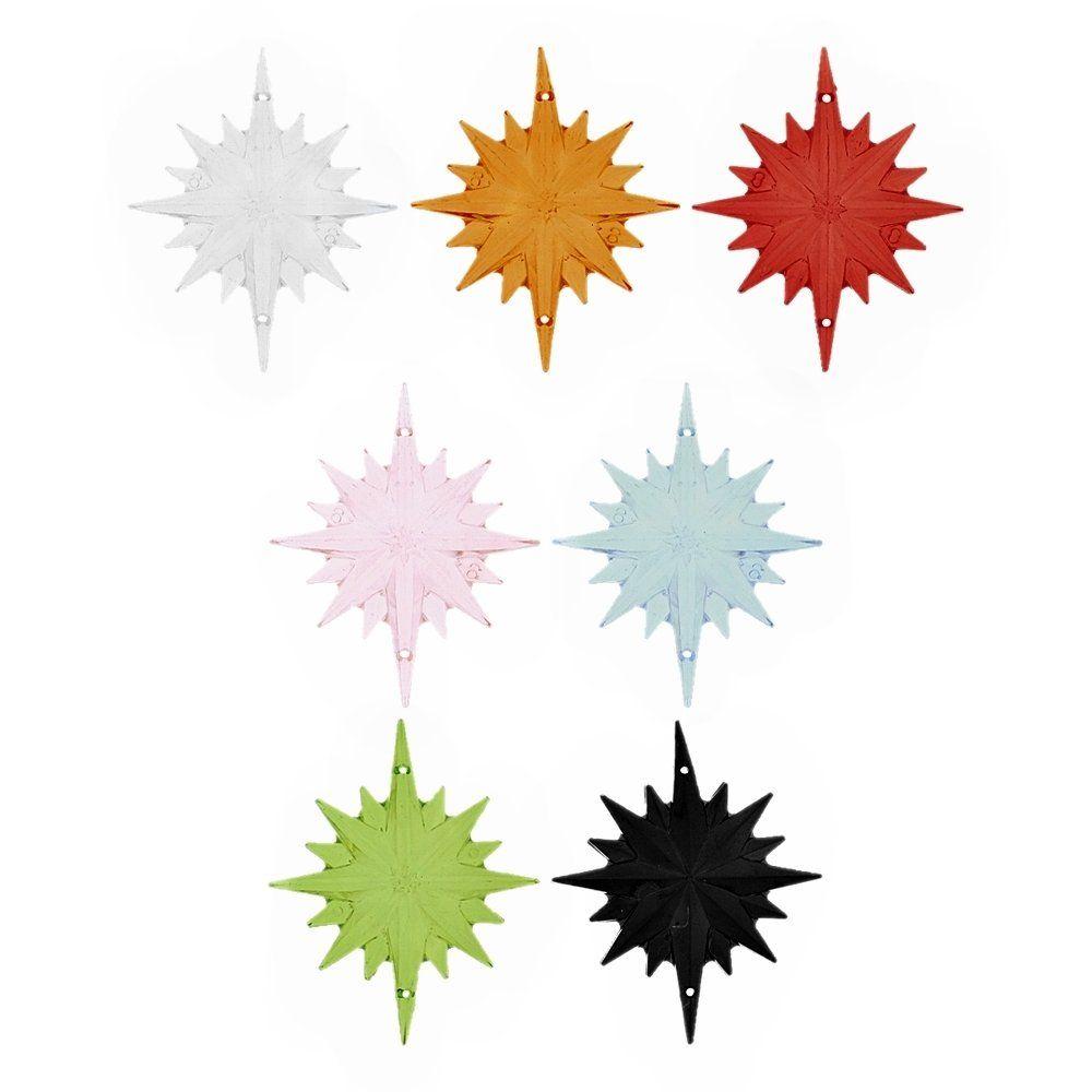 Alongador Estrela de Acrílico 2 Saídas - 66mm  - Nathalia Bijoux®