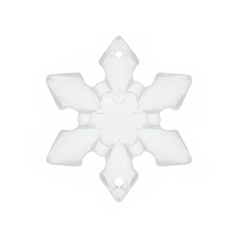 Alongador Floco de Neve de Acrílico 2 Saídas - 37mm  - Nathalia Bijoux®