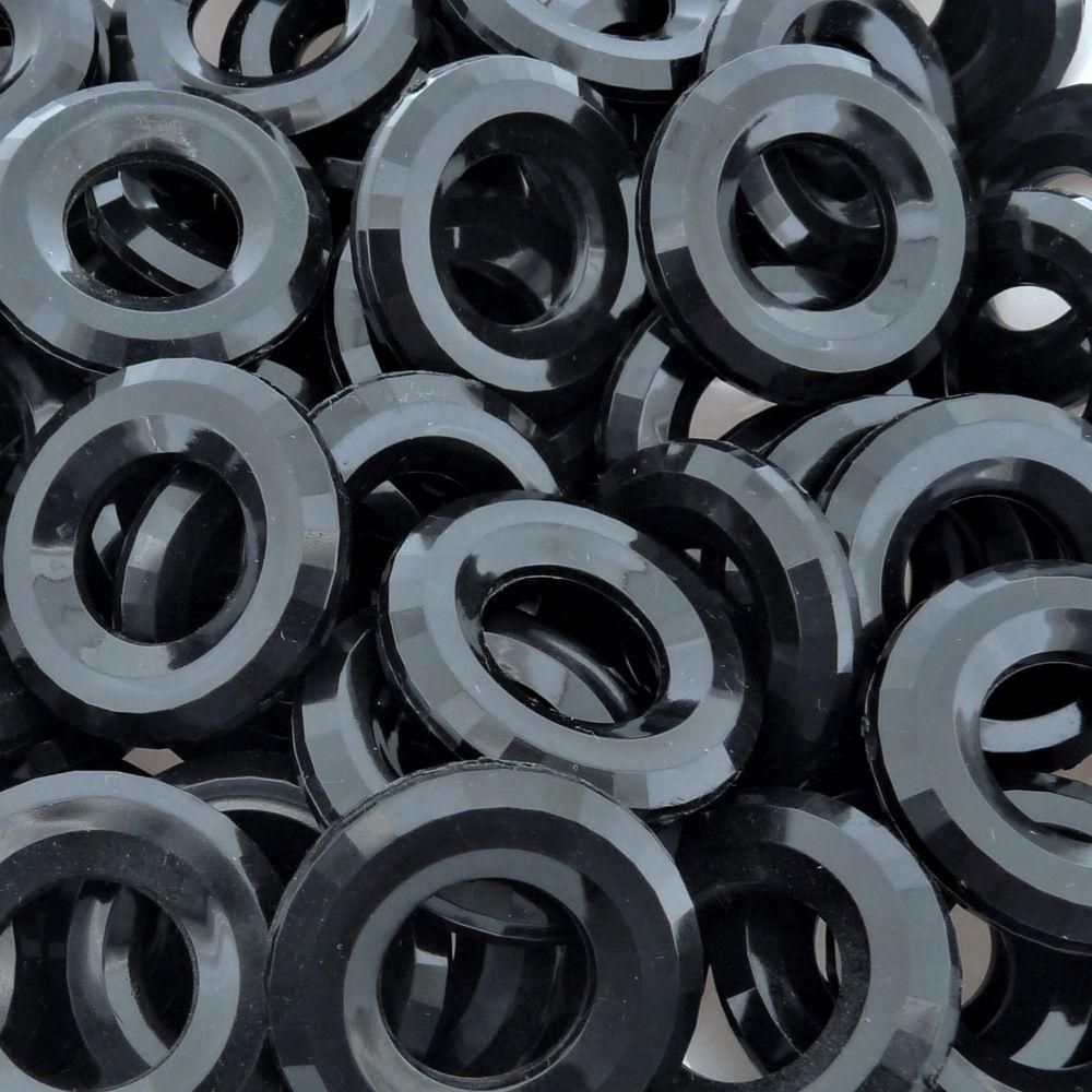 Argola de Acrílico - Preto - 35mm - 250g  - Nathalia Bijoux®