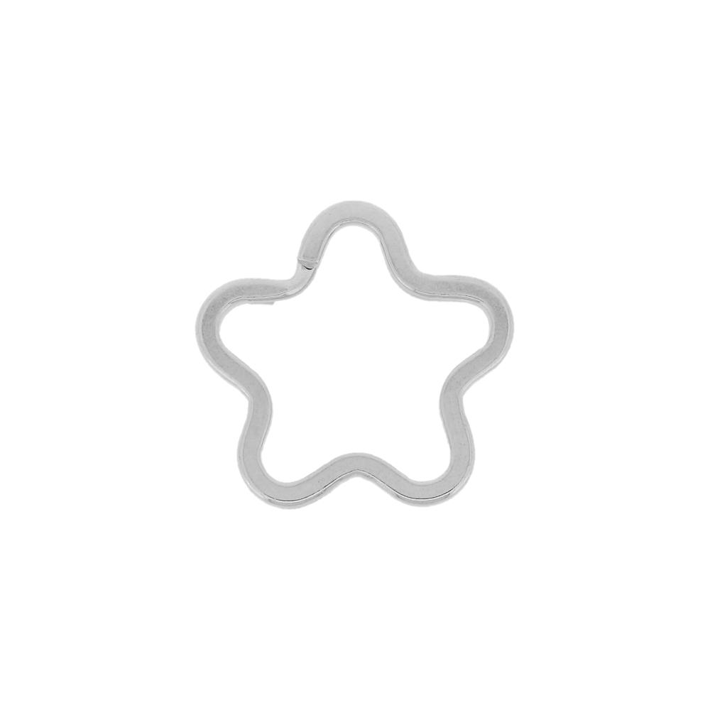 Argola Italiana Estrela para Chaveiro - Níquel - 35mm - 100pçs  - Nathalia Bijoux®