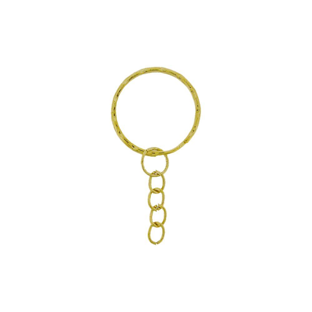 Argola para Chaveiro com Corrente - Níquel - 25mm - 100pçs  - Nathalia Bijoux®