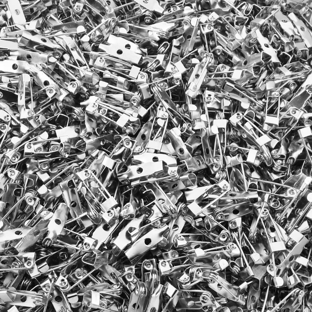 Base para Broche Níquel - 15mm - 100pçs  - Nathalia Bijoux®