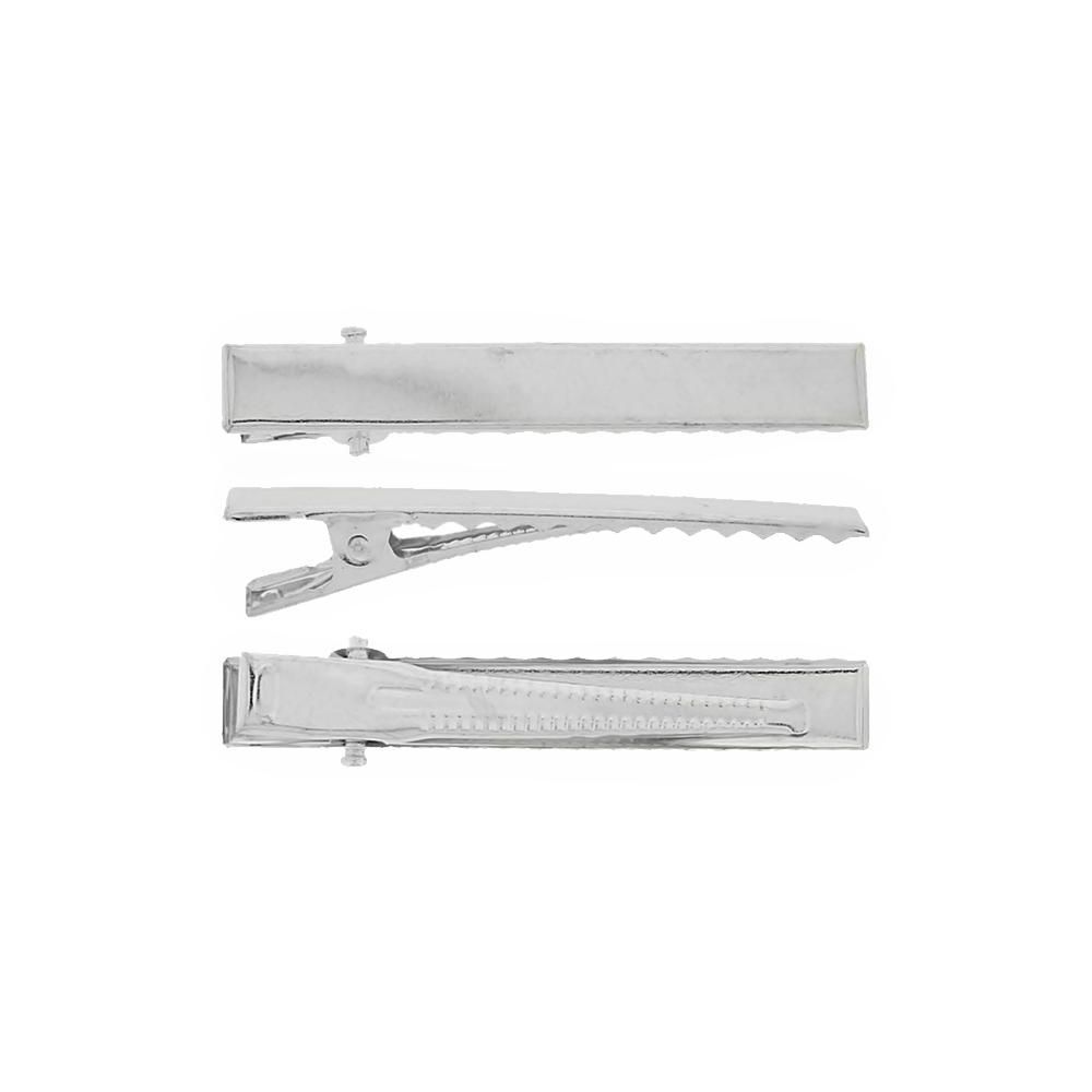 Bico de Pato - Níquel - 4.5cm - 100pçs  - Nathalia Bijoux®