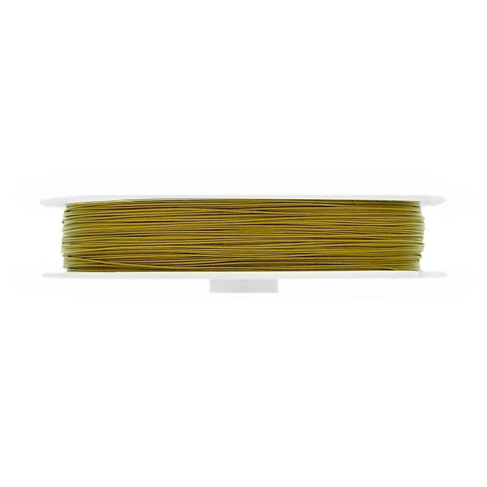 Cabo de Aço - Dourado - 0.4mm - 50m  - Nathalia Bijoux®