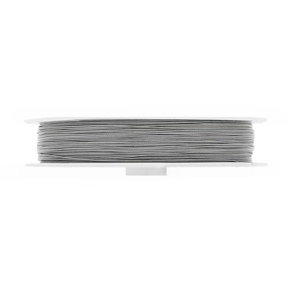 Cabo de Aço - Níquel - 0.4mm - 50m  - Nathalia Bijoux®