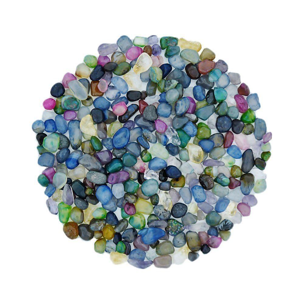 Conta de Pedra Natural Rolada Sem Furo - Variado - 250g  - Nathalia Bijoux®