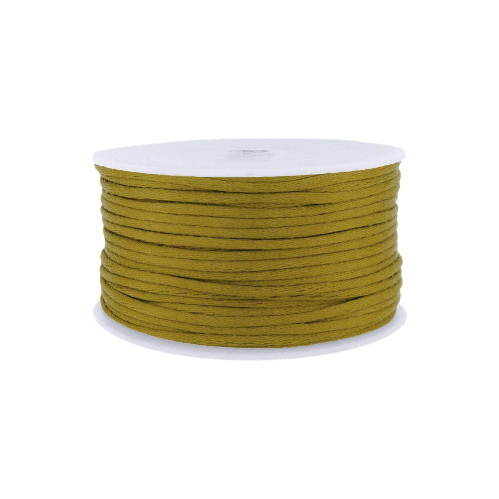 Cordão de Seda Acetinado - Gold (292) - 2mm - 50m  - Nathalia Bijoux®