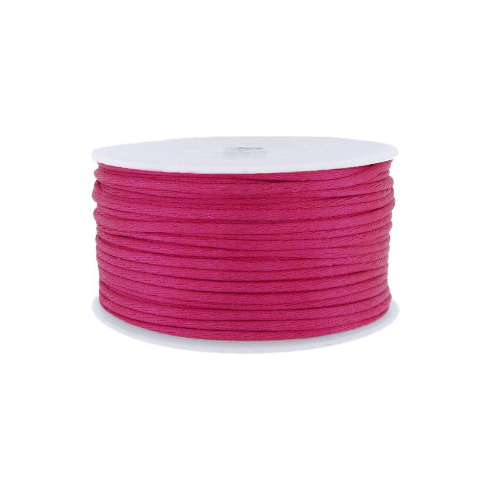 Cordão de Seda Acetinado - Pink Cl (46) - 2mm - 50m  - Nathalia Bijoux®
