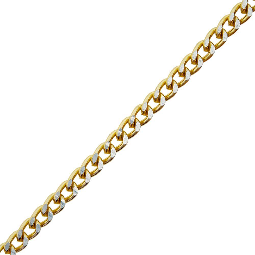 Corrente Dourada com Níquel - 3.5mm x 2mm - 1m  - Nathalia Bijoux®