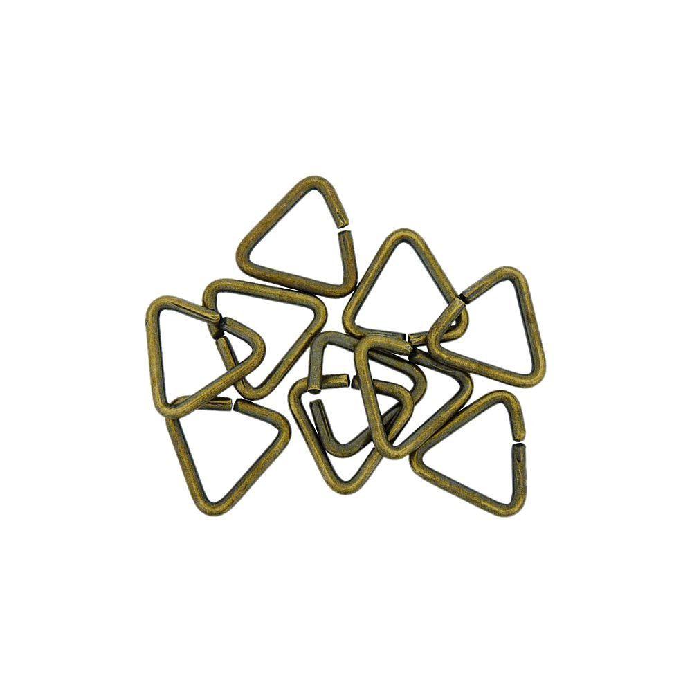 Elo de Metal Ouro Velho - 8mm - 10pçs  - Nathalia Bijoux®