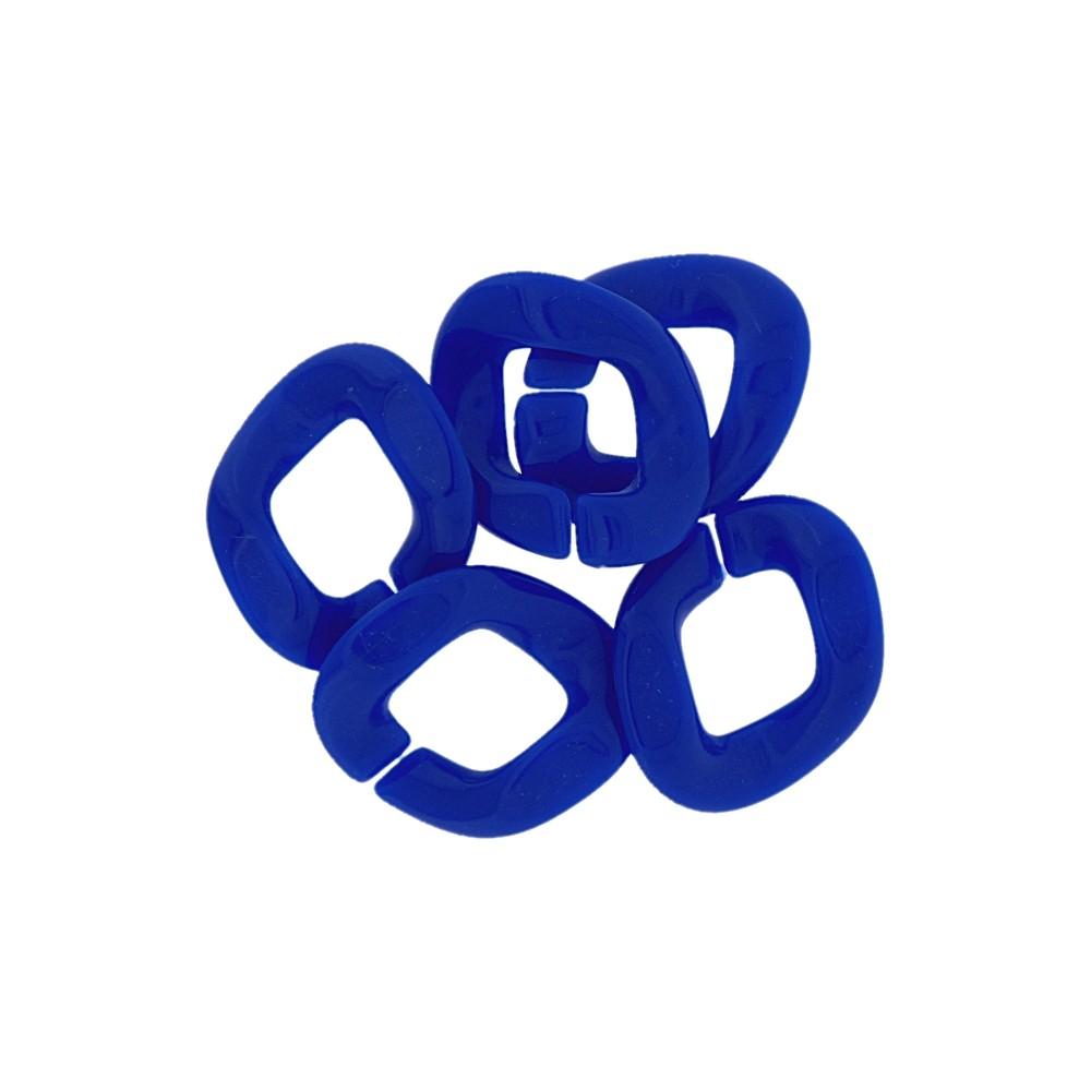 Elo de Resina - Azul Royal - 29mm - 25g  - Nathalia Bijoux®