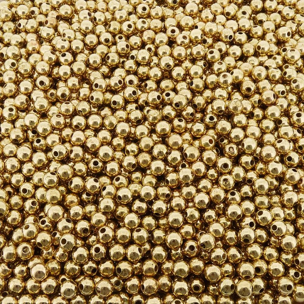 Entremeio Bolinha de ABS  - Dourado - 6mm - 250g  - Nathalia Bijoux®