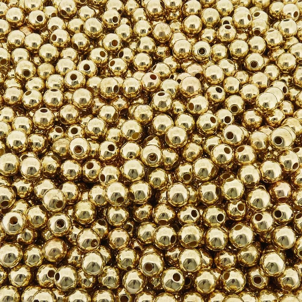 Entremeio Bolinha de ABS  - Dourado - 8mm - 250g  - Nathalia Bijoux®