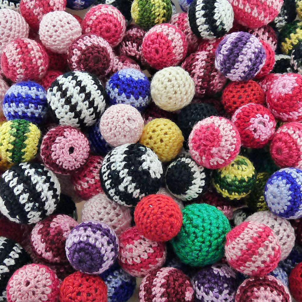 Miçanga Bolinha de Plástico com Crochê - Variado - 100pçs  - Nathalia Bijoux®