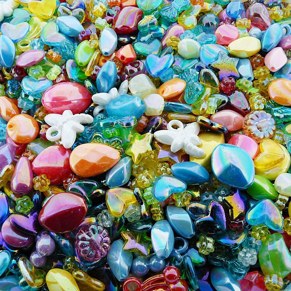 Entremeio Conta de Plástico - Variado Irisado - 250g  - Nathalia Bijoux®