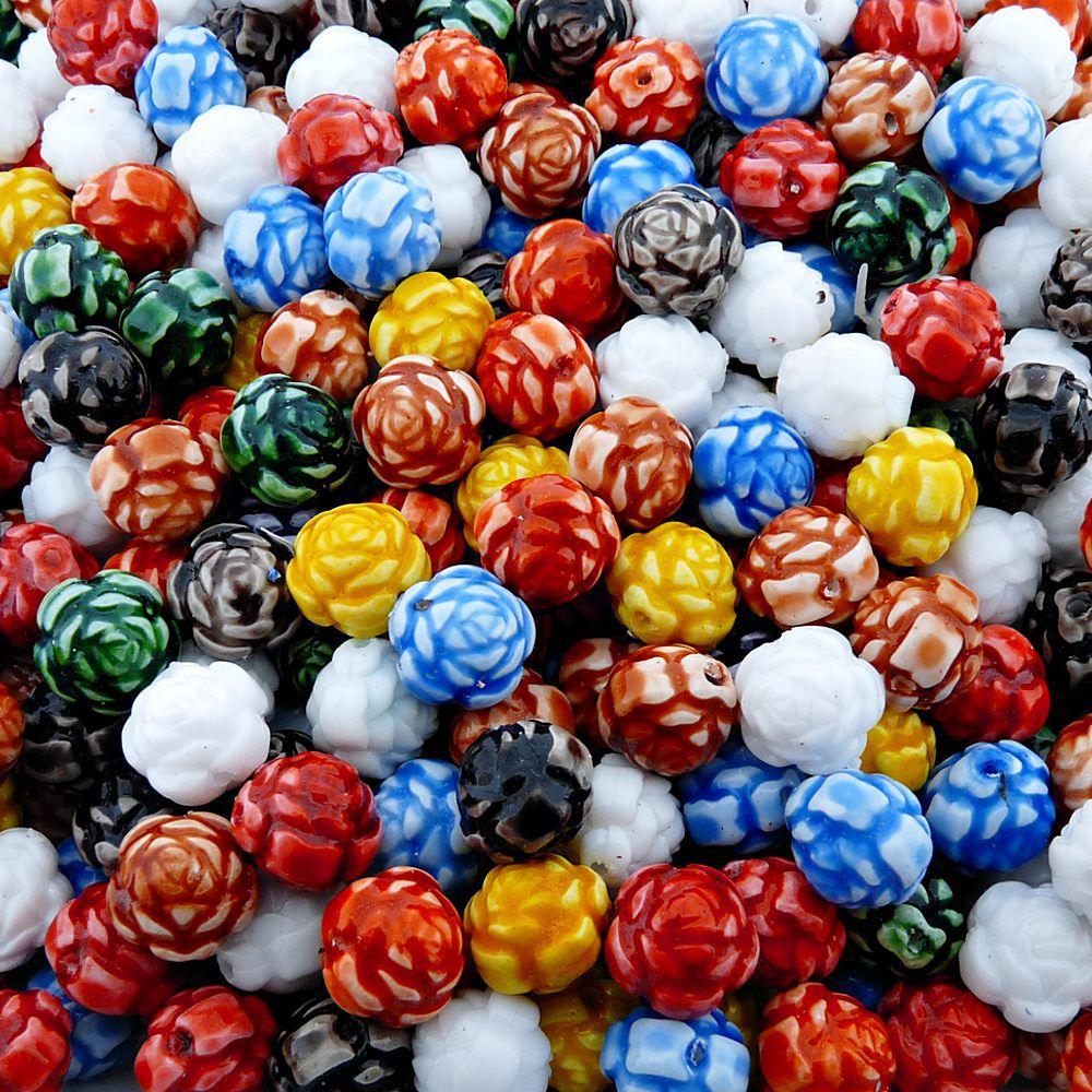 Entremeio Flor de Plástico - Variado - 12mm - 250g  - Nathalia Bijoux®