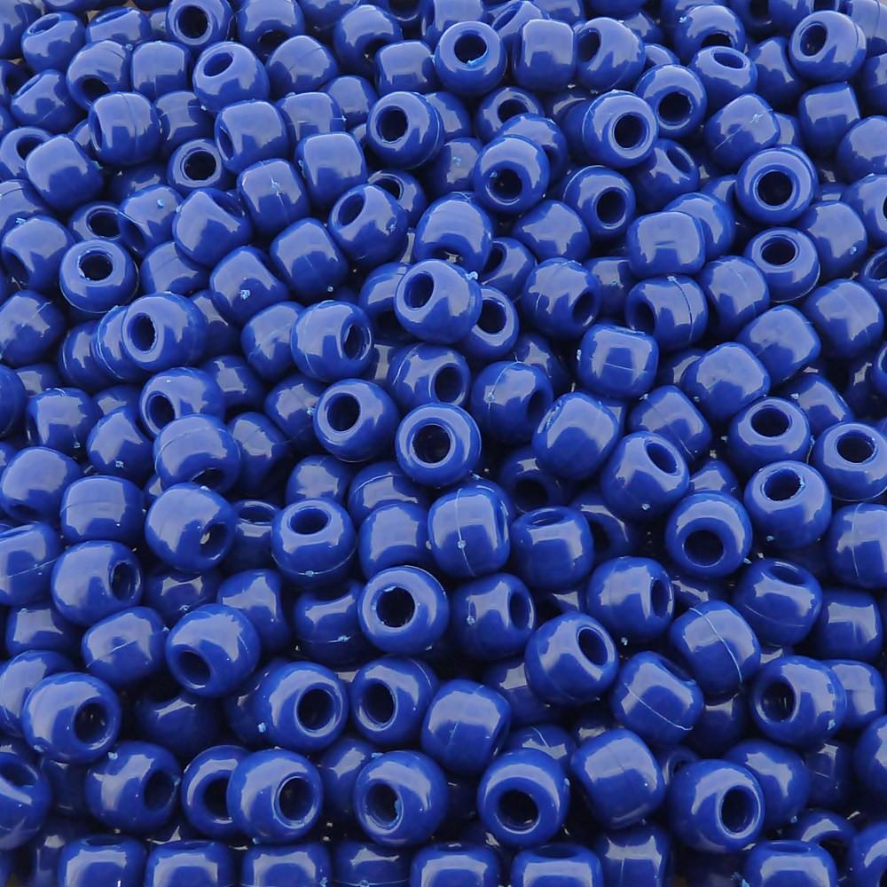 Entremeio Miçangão de Plástico - Azul Royal - 8mm - 250g  - Nathalia Bijoux®