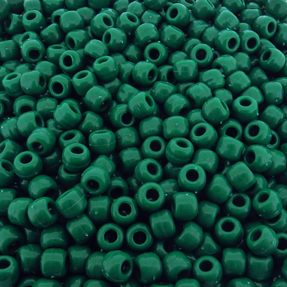 Entremeio Miçangão de Plástico - Verde Esmeralda - 8mm - 250g  - Nathalia Bijoux®