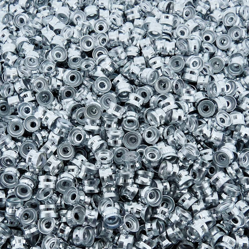 Entremeio Rondelle de Metal - 6mm - 100pçs  - Nathalia Bijoux®