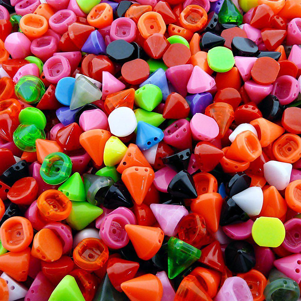Entremeio Spike de Plástico 2 Saídas - Variado - 100g  - Nathalia Bijoux®