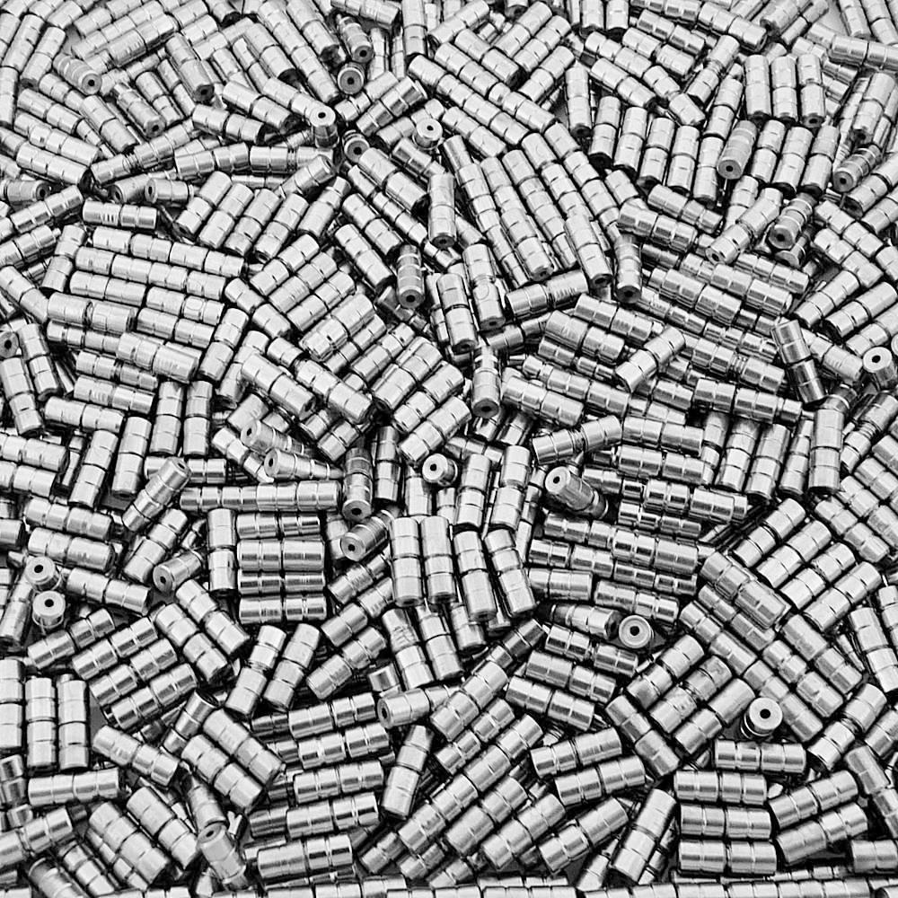 Fecho Rosca - Níquel - 8mm - 100pçs  - Nathalia Bijoux®