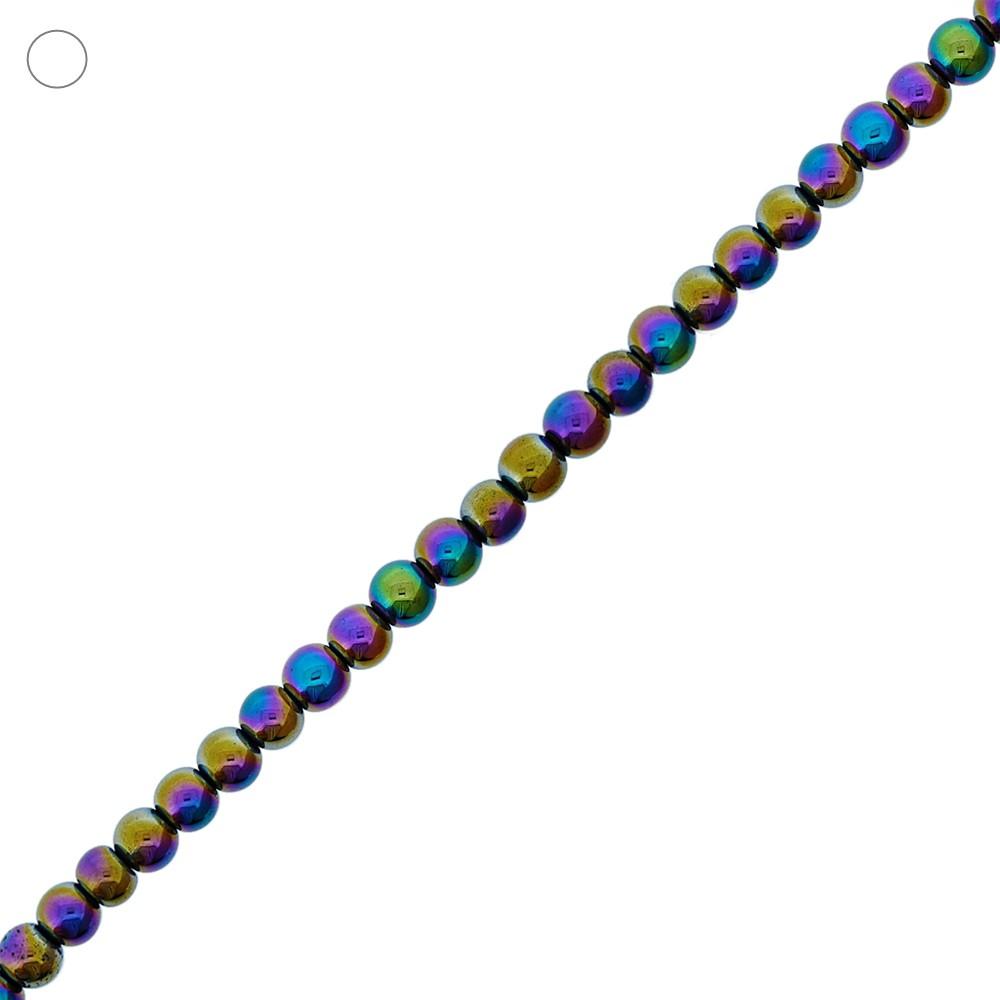 Fio de Bolinhas de Hematita Boreal - 6mm - 40cm  - Nathalia Bijoux®
