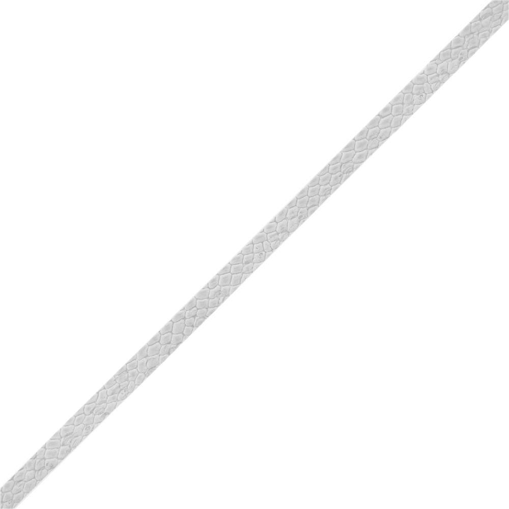Fio de Camurça - Branco Piton - 5mm - 20m  - Nathalia Bijoux®