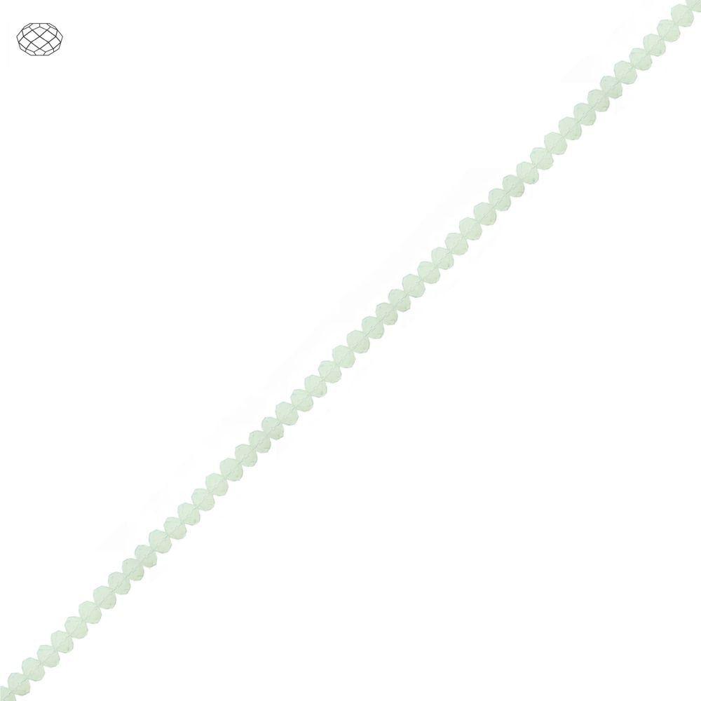 Fio de Contas Facetadas de Cristal - Cloud Leitoso - 3mm  - Nathalia Bijoux®