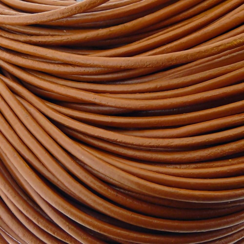 Fio de Couro - Caramelo - 3mm - 10m  - Nathalia Bijoux®