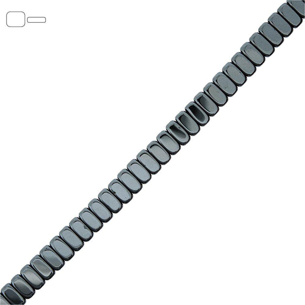 Fio de Pastilhas Retangulares de Hematita - 4mm - 40cm  - Nathalia Bijoux®