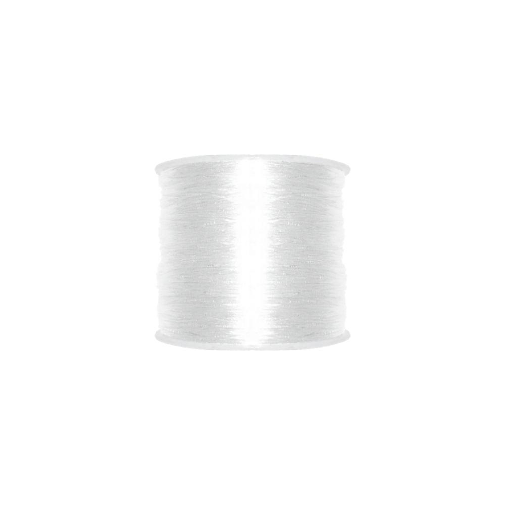 Fio de Silicone - Transparente - 0.4mm - 100m  - Nathalia Bijoux®