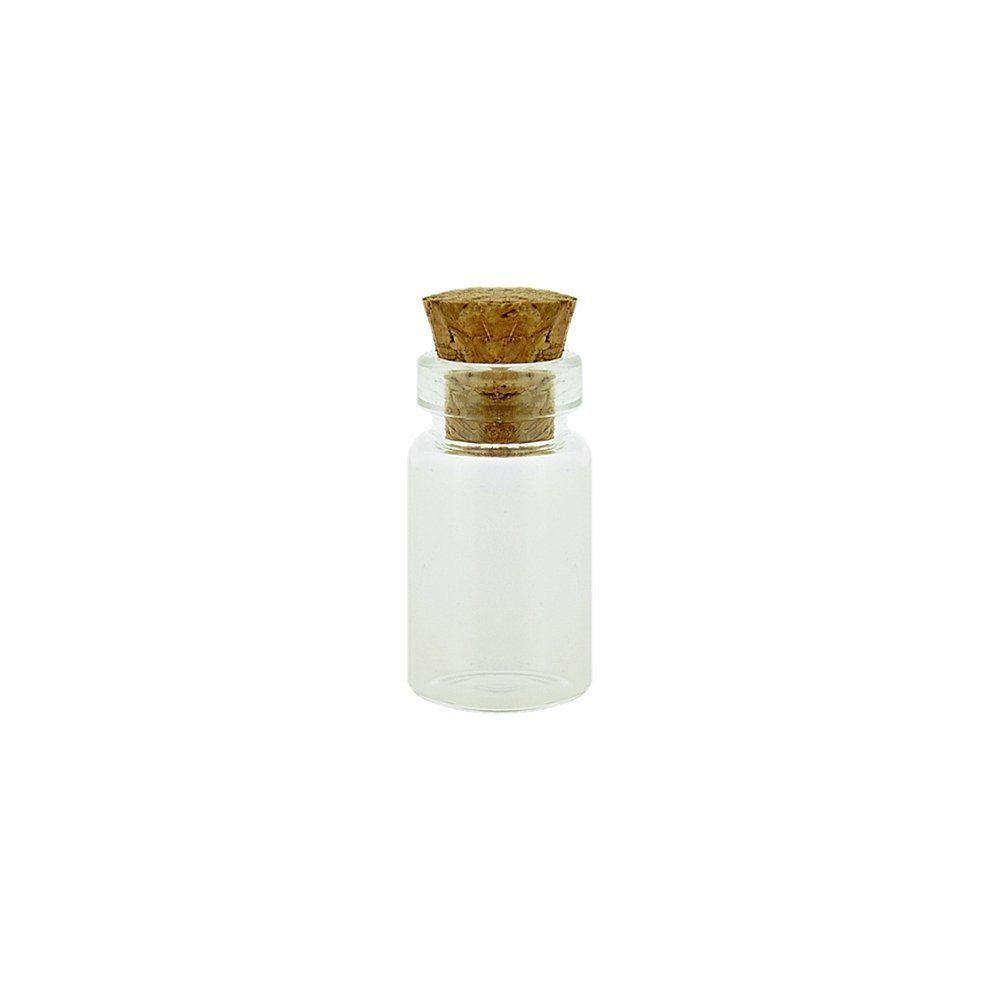 Garrafinha de Vidro com Rolha  - 1.8cm  - Nathalia Bijoux®