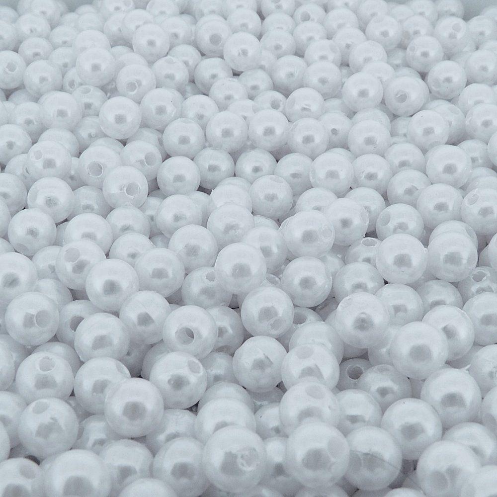 Pérola de ABS - Branco - 8mm - 500g  - Nathalia Bijoux®