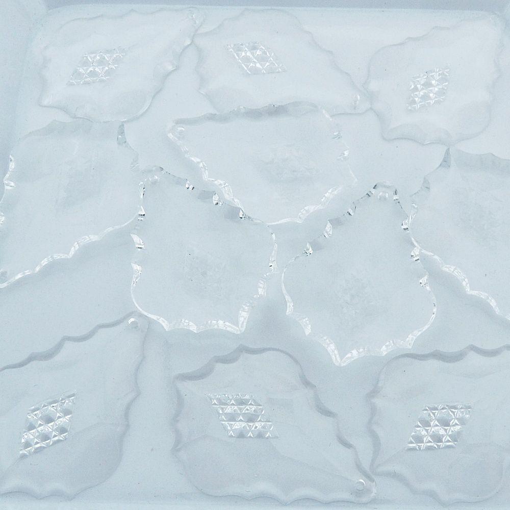 Pingente Bacalhau de Acrílico - Transparente - 44mm - 100pçs  - Nathalia Bijoux®