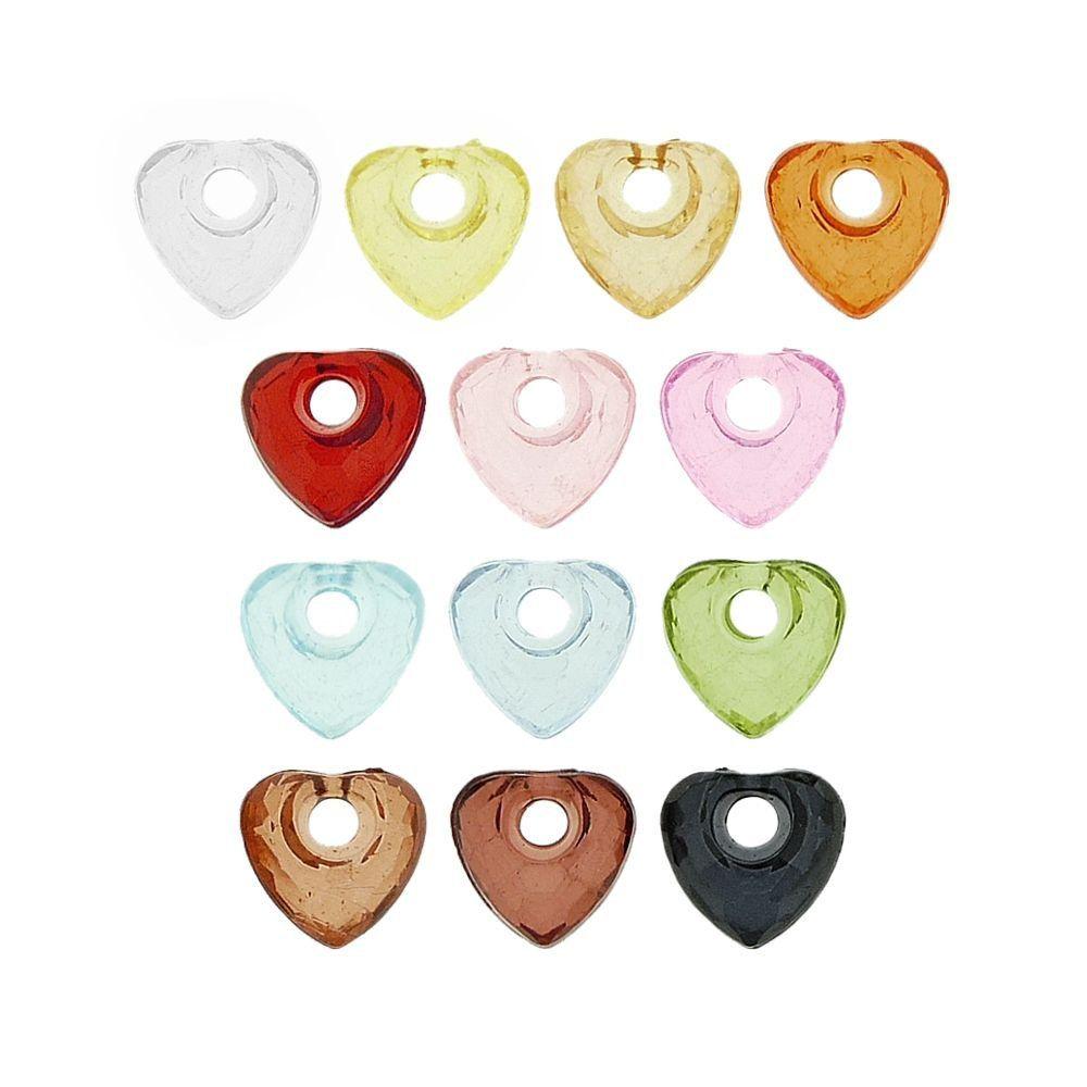 Pingente Coração de Acrílico - 12mm  - Nathalia Bijoux®