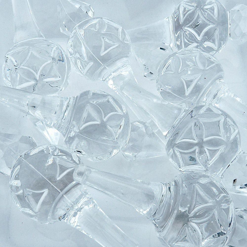 Pingente de Acrílico - Transparente - 88mm - 100pçs  - Nathalia Bijoux®