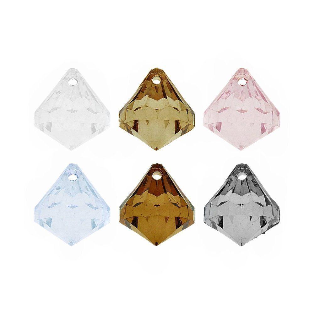 Pingente Diamante de Acrílico - 22mm  - Nathalia Bijoux®