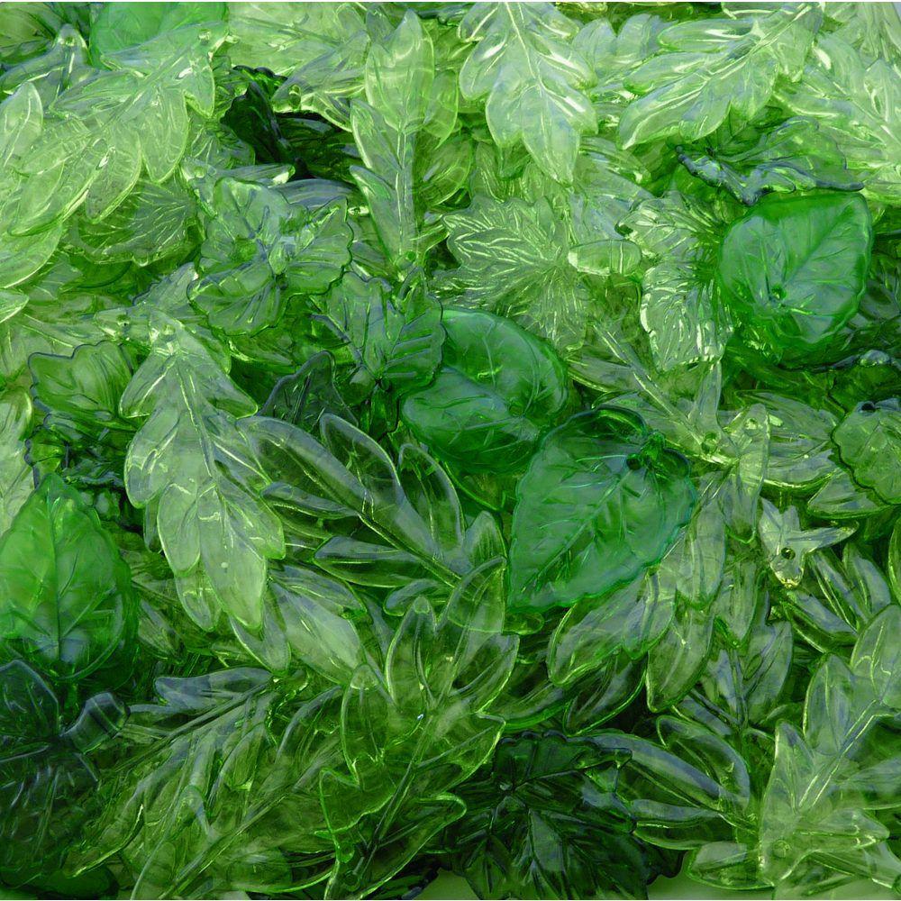 Pingente Folha de Acrílico - Variado Verde - 250g  - Nathalia Bijoux®