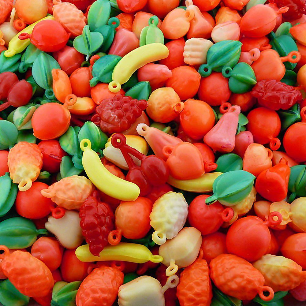 Pingente Frutinhas de Plástico - Variado - 250g  - Nathalia Bijoux®
